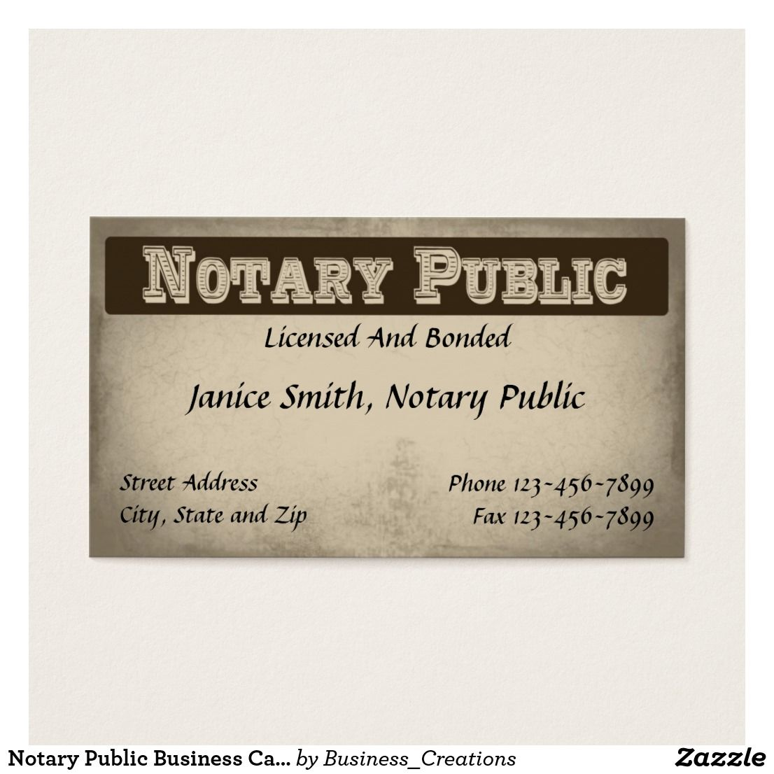 Notary Public Business Card Zazzle Com In 2021 Notary Public Business Notary Public Notary