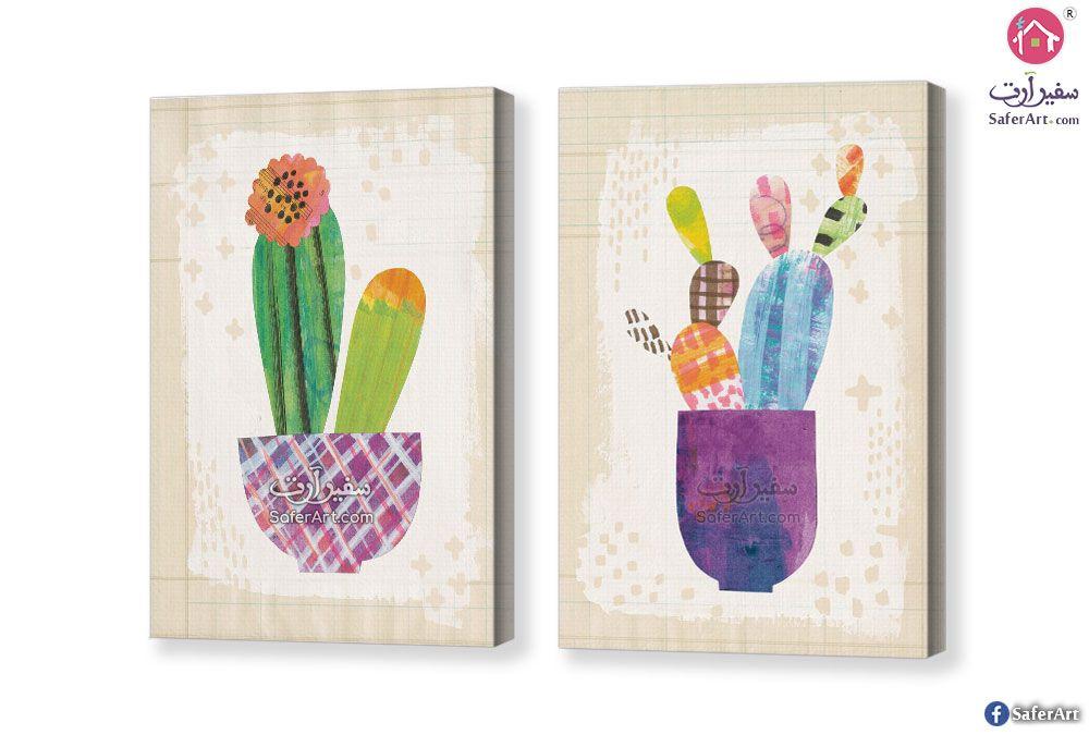 تابلوه مودرن صبار سفير ارت للديكور Cactus Wall Art Wall Art Cactus