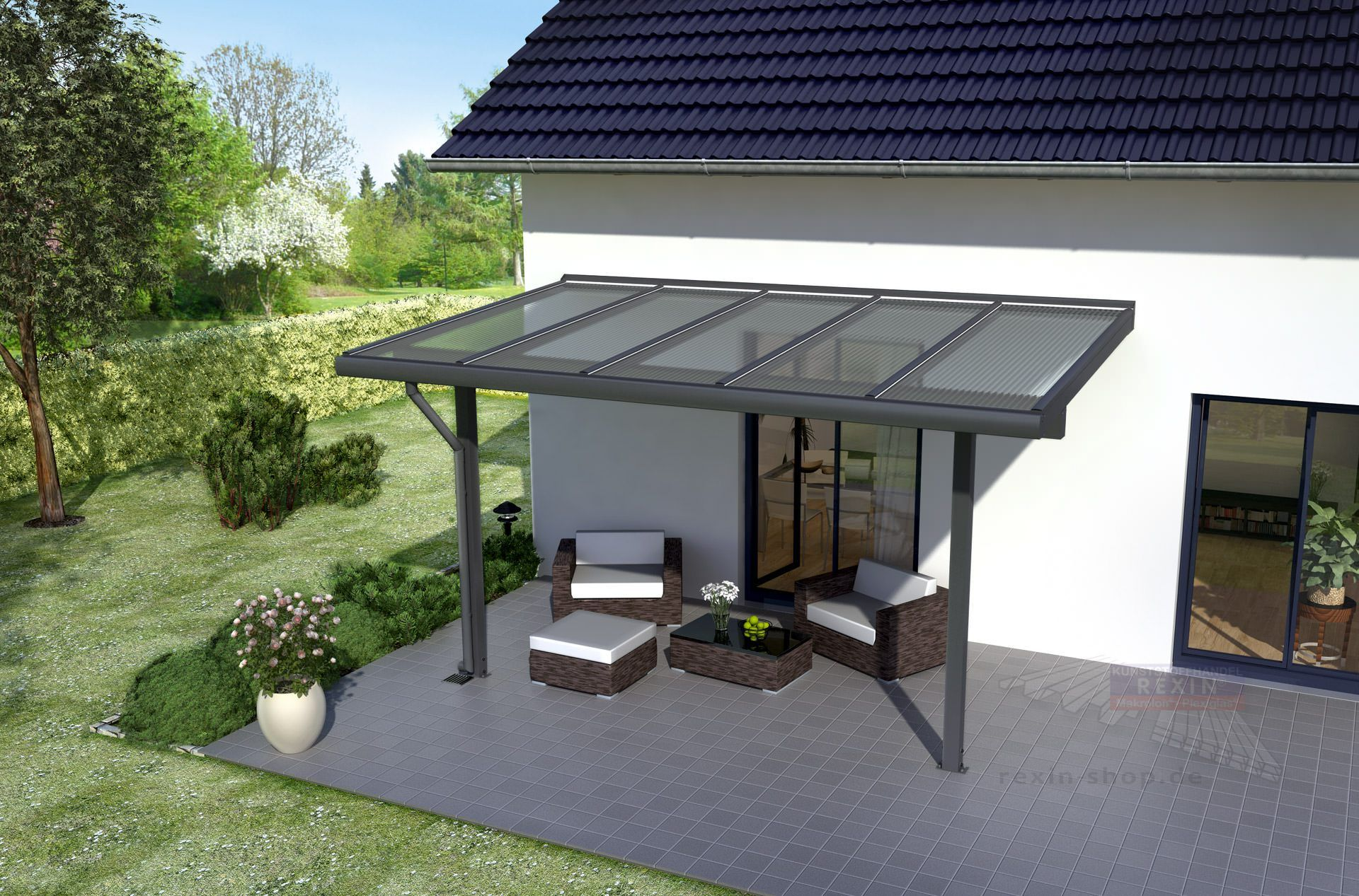 REXOclassic Alu Terrassenüberdachung 7m x 3m, VSGGlas