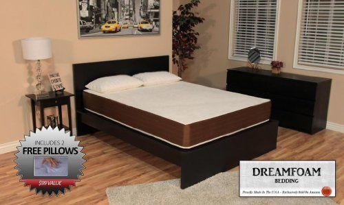 Dreamfoam Bedding 10 Inch Memory Foam Mattress Queen Review Memory Foam Beds Firm Memory Foam Mattress Bed