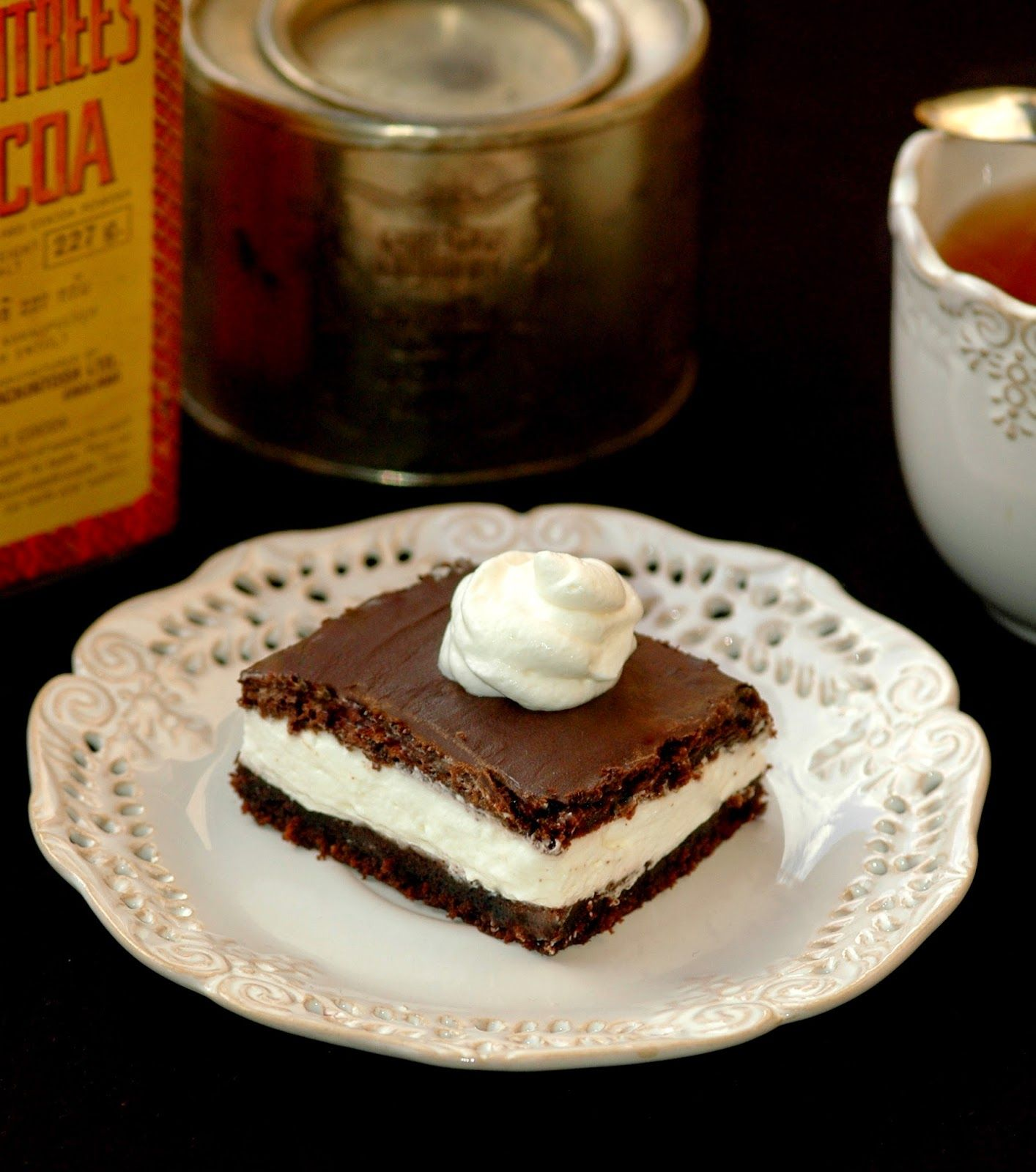 Taste Me: Vegan wuzetka without sugar. Vegan cream chocolate slice