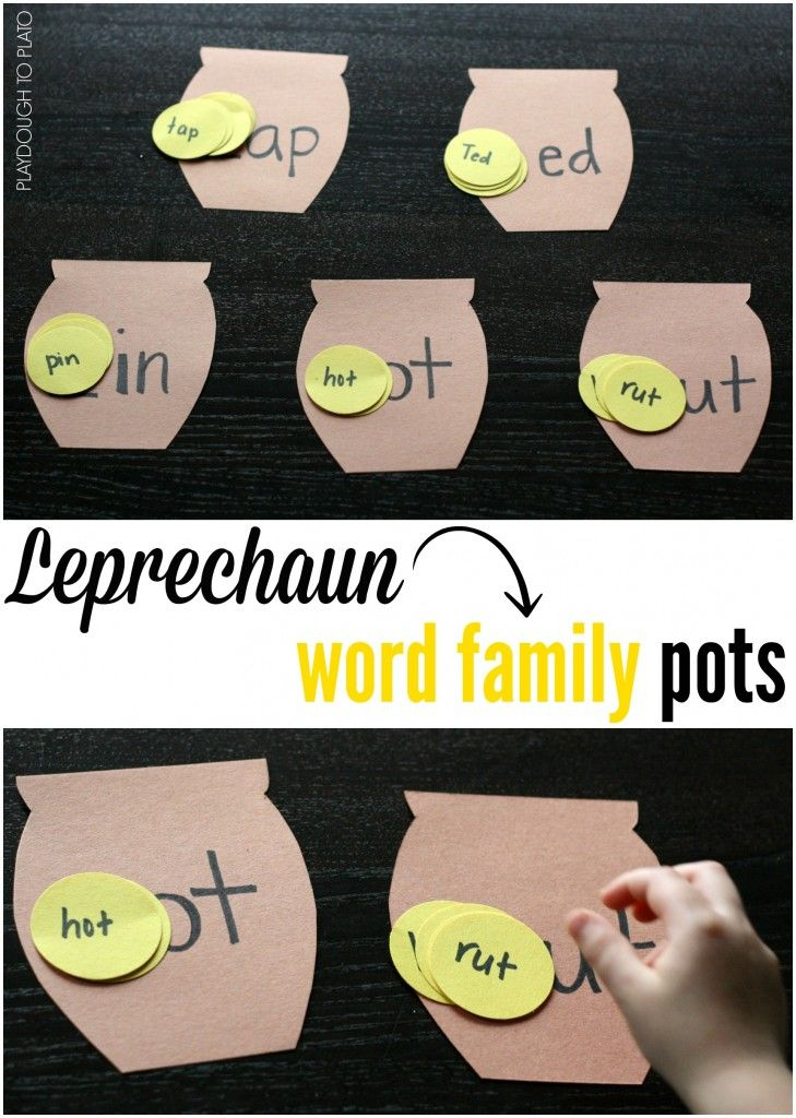 Leprechaun Word Family Pots Reading Writing Readiness
