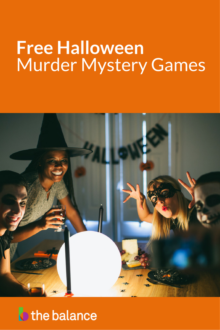 host a cheap murder mystery halloween party with these free party