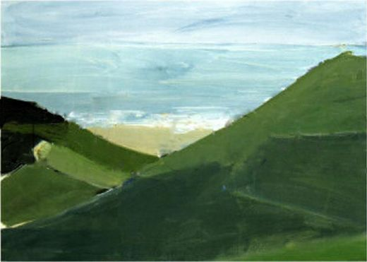 Je Vais Voir La Mer C Est Du Tout Venant Peinture Paysage Paysages Abstraits Art Paysagiste