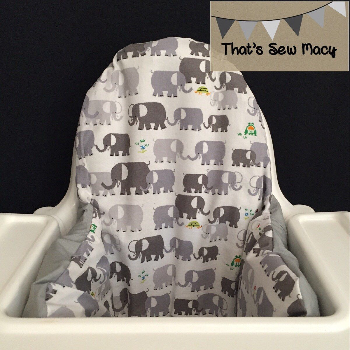 Elephant IKEA Antilop high chair cushion cover with or without – Etsy Chair Cushions