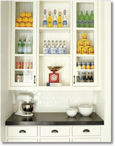 i love the idea of using beadboard in the back of glass front rh pinterest com display kitchen cabinets louisville ky display kitchen cabinets