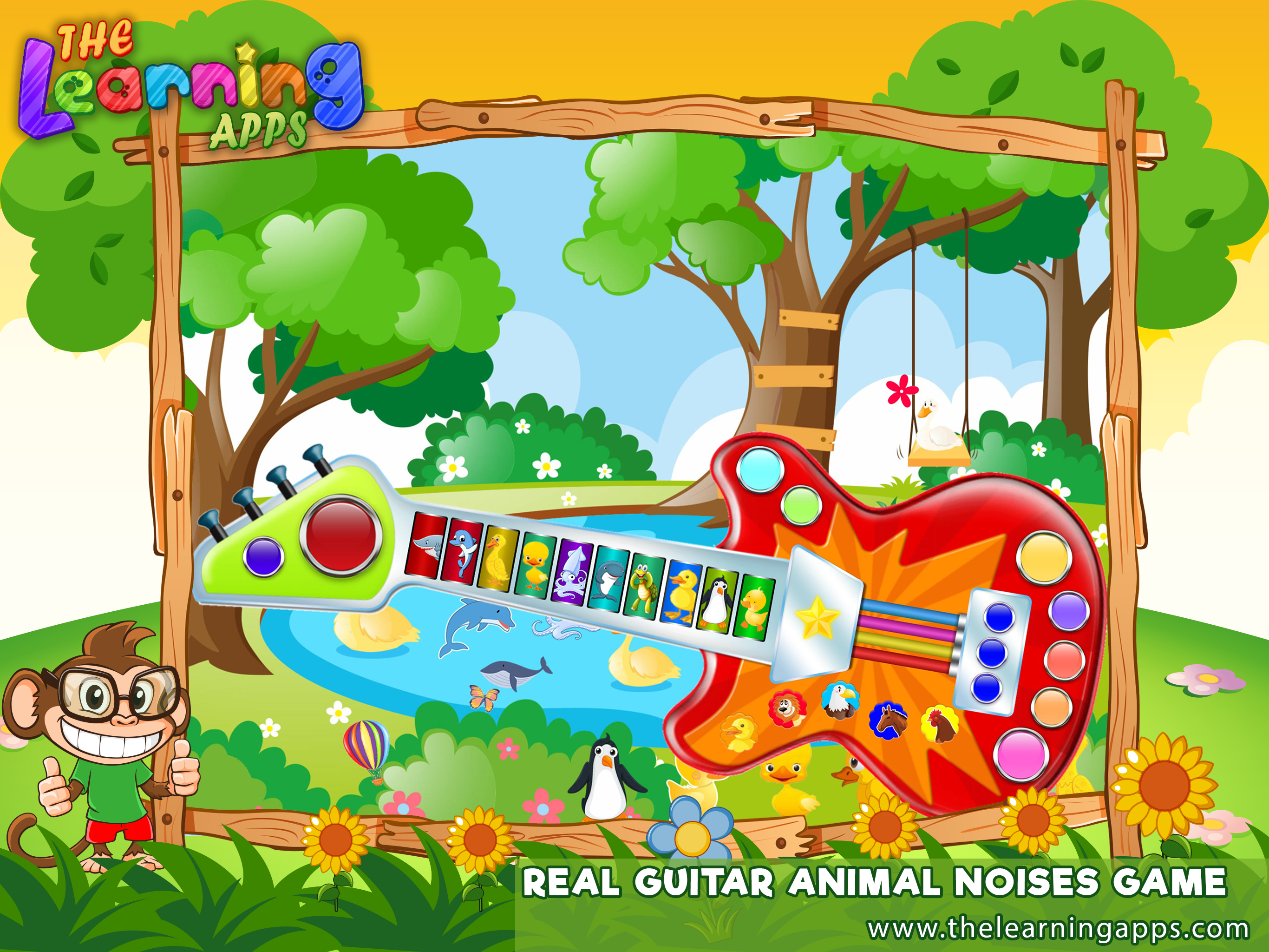 Animal Guitar is a Colorful Guitar with animal sounds. The