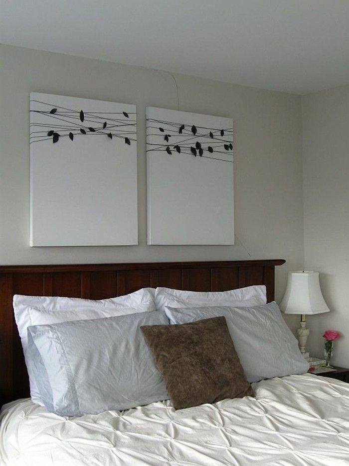 wände dekorieren leinwand schlafzimmer Deko Pinterest Dekoration - schlafzimmer dekorieren wand