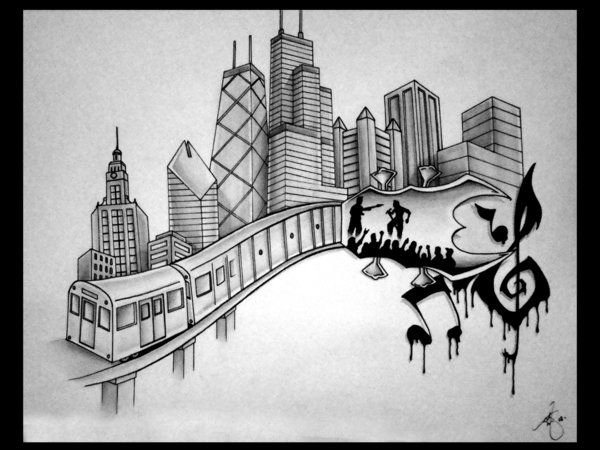 Chicago Skyline Tattoos Google Search Chicago Skyline Tattoo