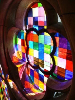 Gerhard Richter's awesome pixelated stained glass windows in Koln Cathedral.