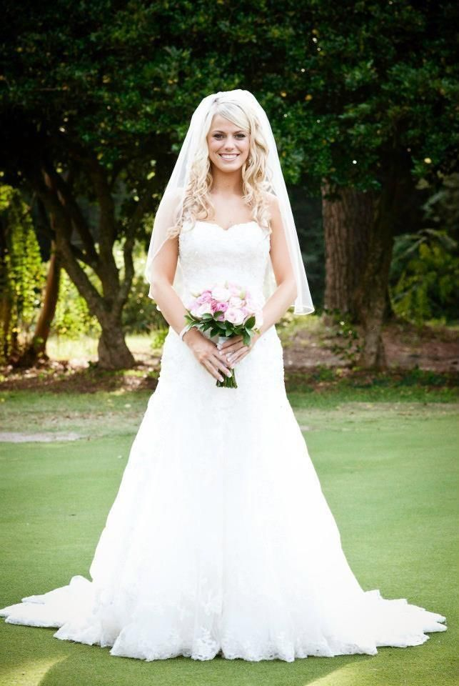 An Elbow Length Veil Like This One Worn By Brittany Showcases A