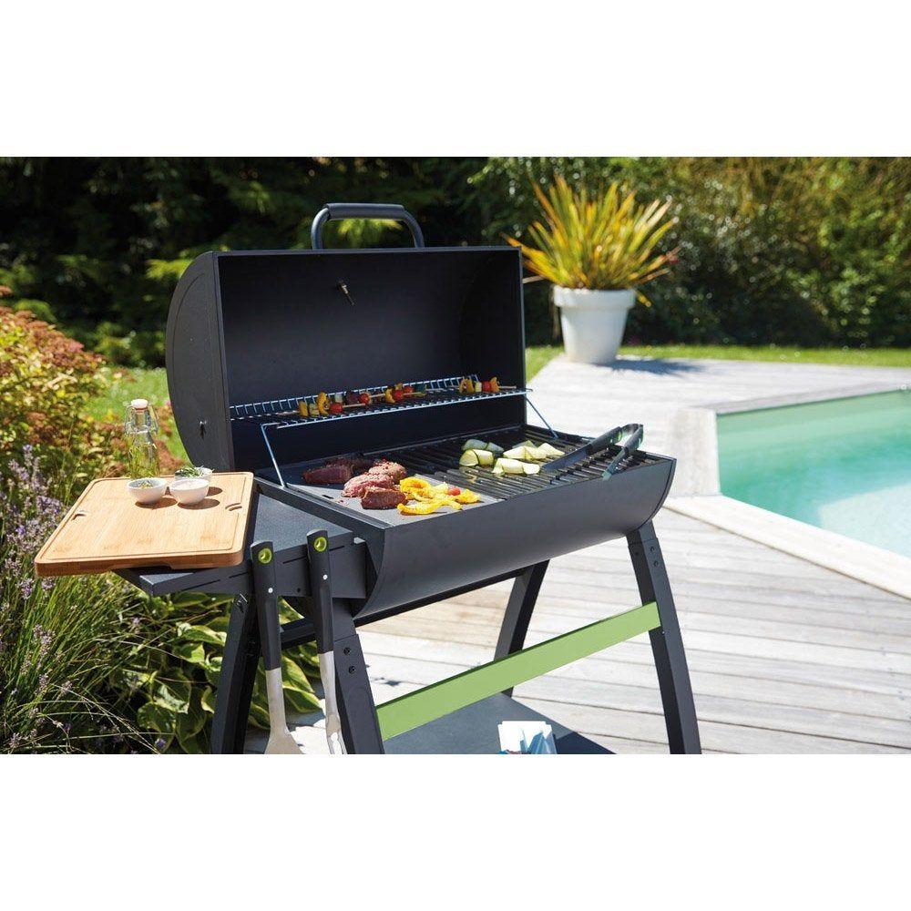 Barbecue Au Charbon De Bois Ch527t Noir Mat Barbecue A Charbon Barbecue Accessoire Barbecue