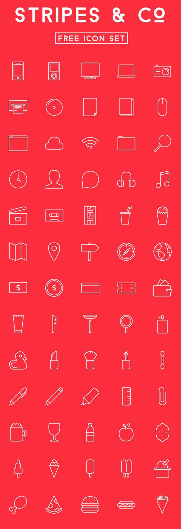 Free icon Set (65 Icons) #outlineicons #strokeicons #freeicons #vectoricons #psdicons #webfonts
