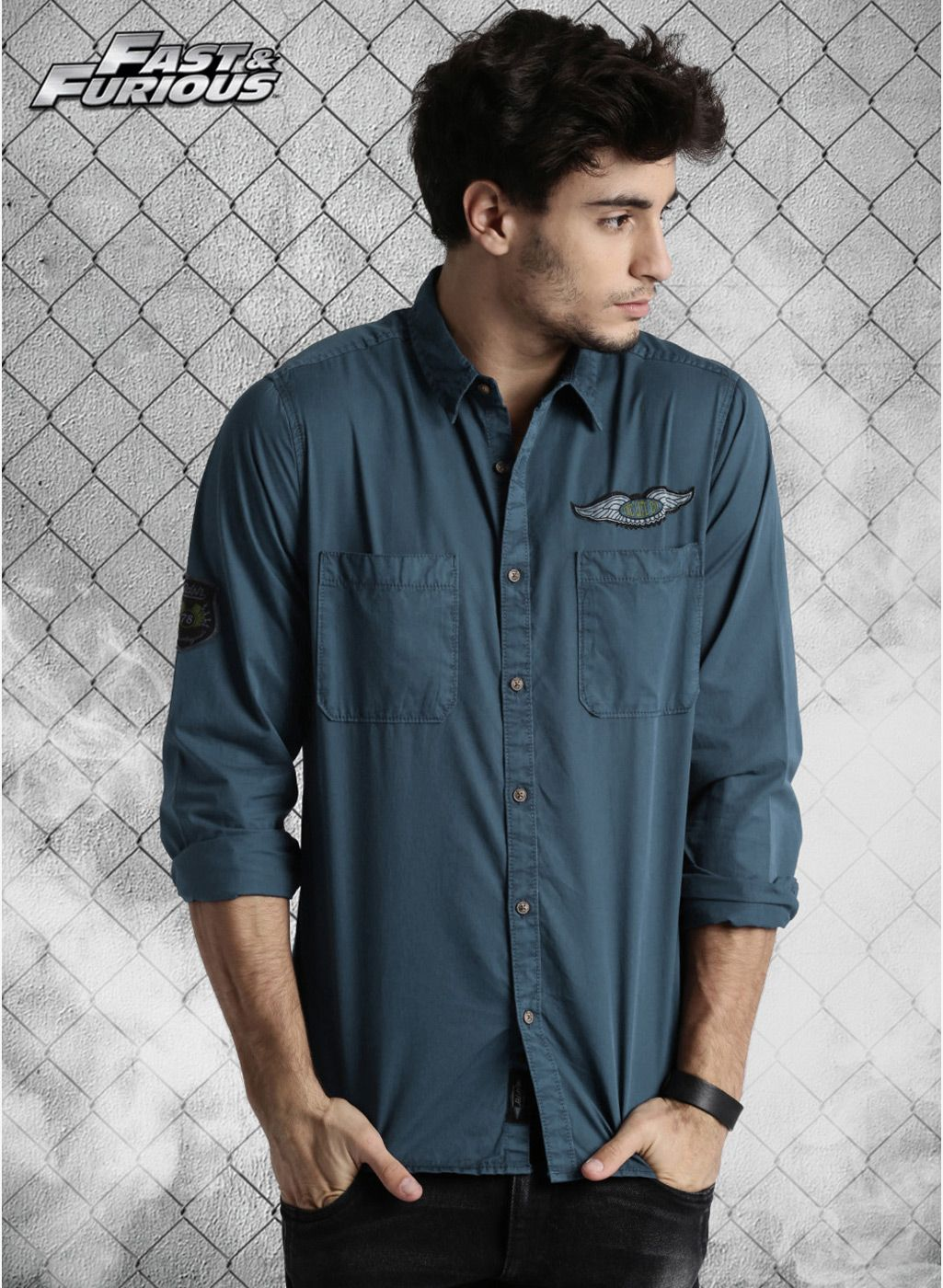 c87cd13403f Roadster Blue Solid Regular Fit Casual Shirt | Men's ClOtHinG in ...