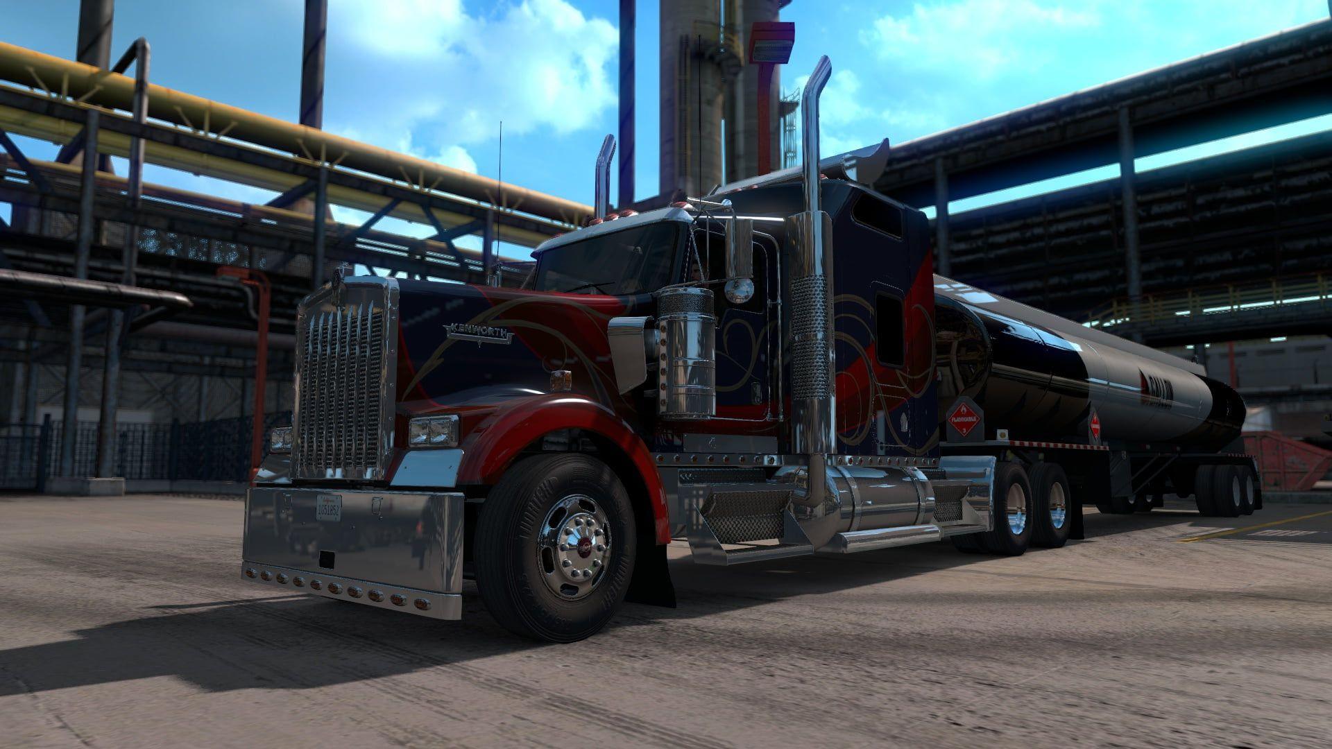 American Truck Simulator Kenworth Pc Gaming Trucks Truck Screen Shot 1080p Wallpaper Hdwallpaper Desktop American Truck Simulator Kenworth Simulation