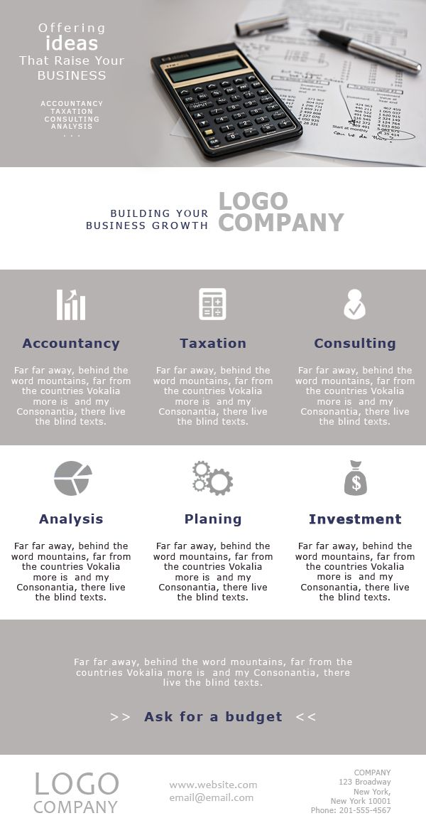 The Business Plan #Templates for #Accounting and #Finance - sample business newsletter