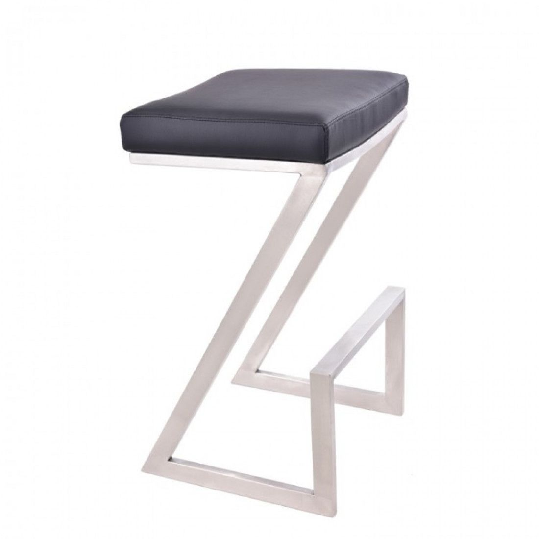 Armen Living Atlantis 26 Backless Barstool In Brushed Stainless