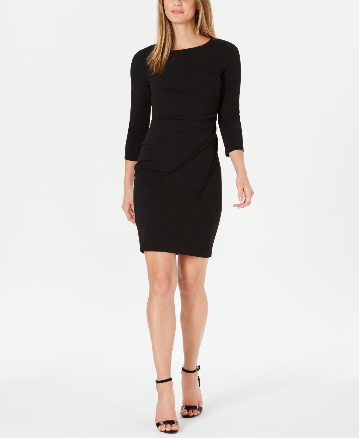 Calvin Klein Starburst Sheath Dress Black Black Sheath Dress Sheath Dress Rush Outfits