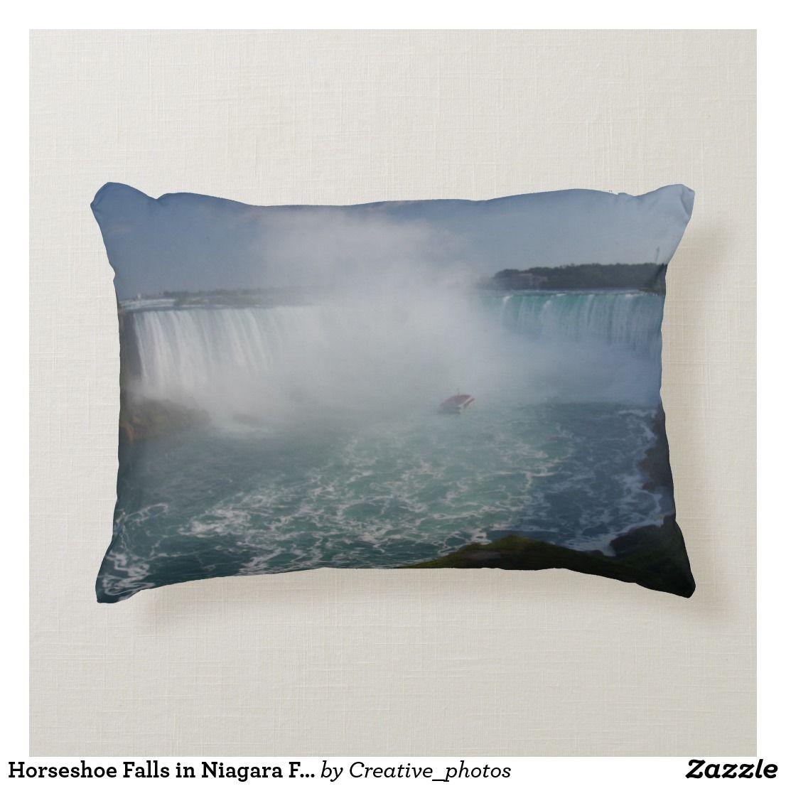 Horseshoe Falls In Niagara Falls Decorative Pillow Zazzle Com
