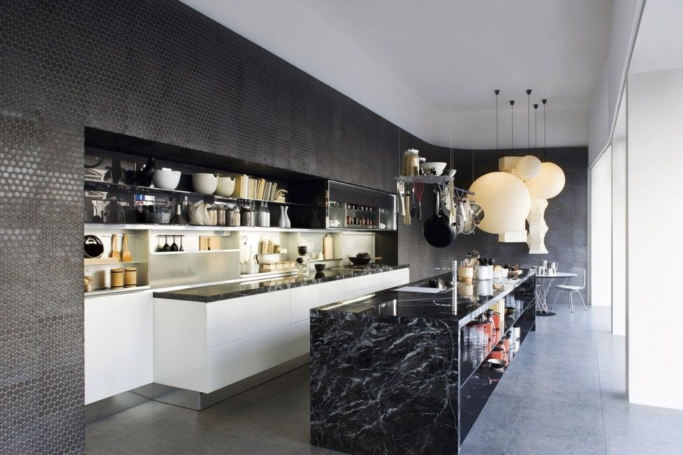 Black Marble Kitchen Island : An Incredible Asian Inspired Interiors Ideas | Designs By Style, Asian Inspired