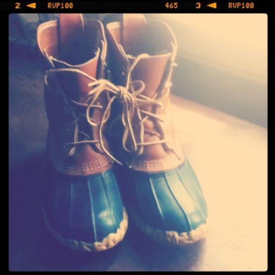 LL Bean Maine Hunting Boots. $10 at Savers.