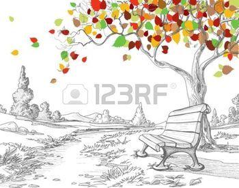 dibujos de hojas de oto o rbol de oto o cayendo hojas. Black Bedroom Furniture Sets. Home Design Ideas