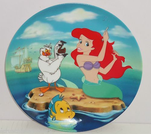 Disney Little Mermaid Collector Plate Princess Ariel Founder Visit Surface Knowl $45.00