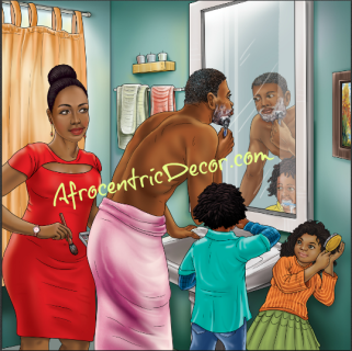 Family Shower Curtain African American Culture African American