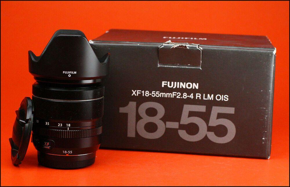 Fuji 18 55mm F2 8 4 R Lm Ois Xf Fujinon Fujifilm Lens With Both Caps Hood Fujifilm Category Stuff To Buy