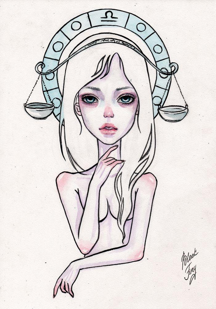 Английском, знаки зодиака рисунки девушки