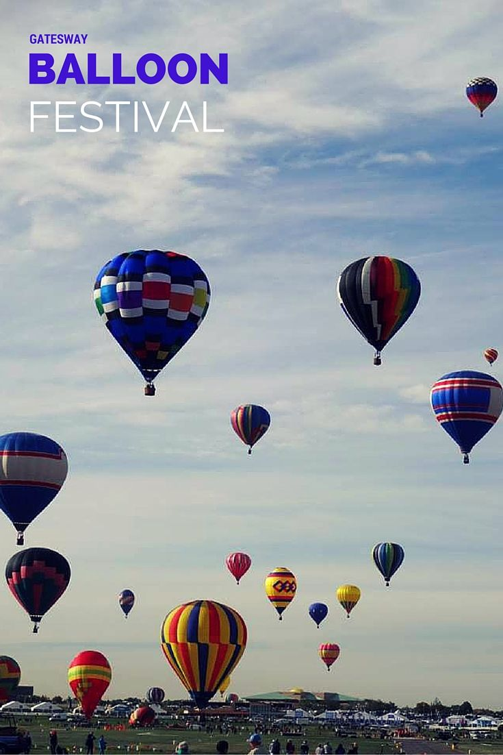 The Gatesway Balloon Festival in Claremore, Oklahom is one of the state's best fall events every year. There will be over 30 hot air balloons taking to the skies as well as children's' activities, lawn mower races and even tethered balloon rides.