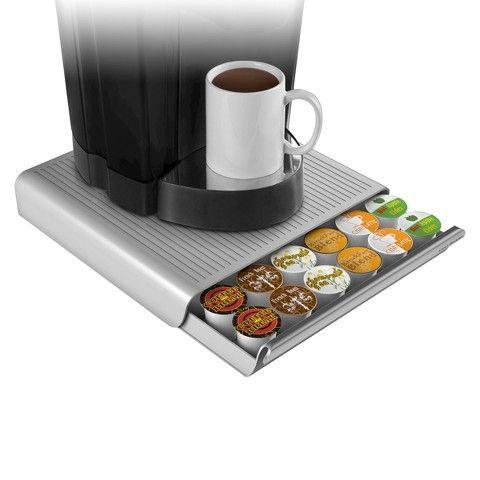 Mind Reader 36 Capacity Coffee Pod Drawer-Silver/Grey