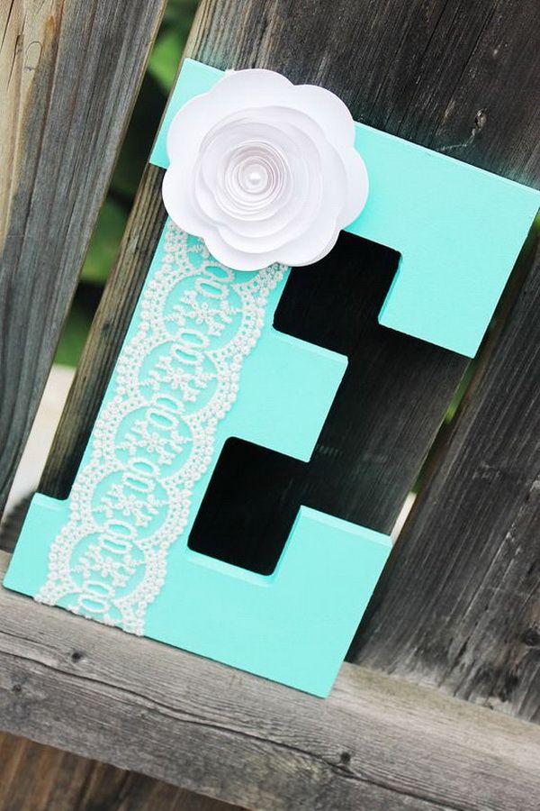 20 Pretty Diy Decorative Letter Ideas