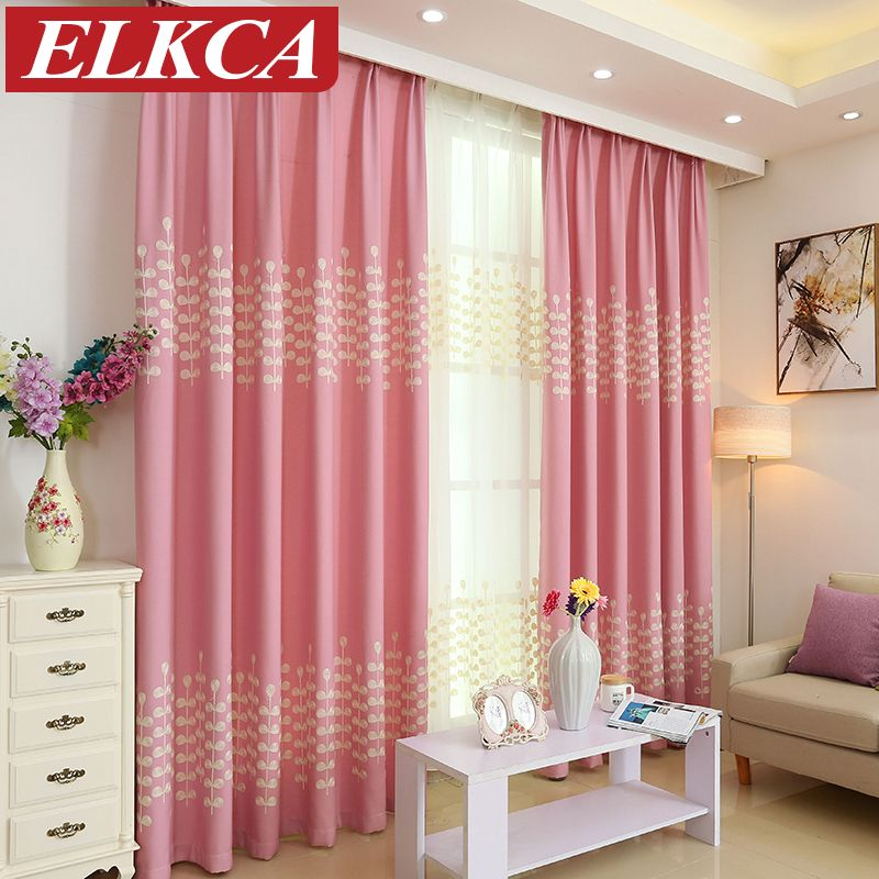 Baby Room Curtains for Child Velvet Embroidered Rural Style Curtains ...
