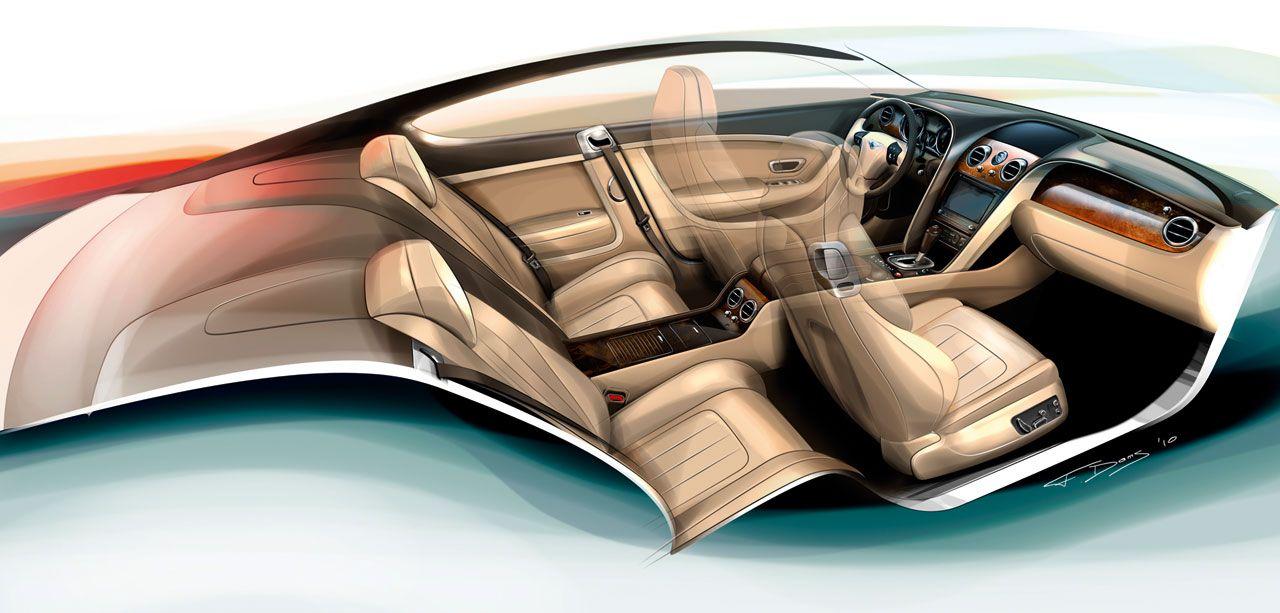 Bentley Continental Gt Luxury Car Interior Car Interior Sketch