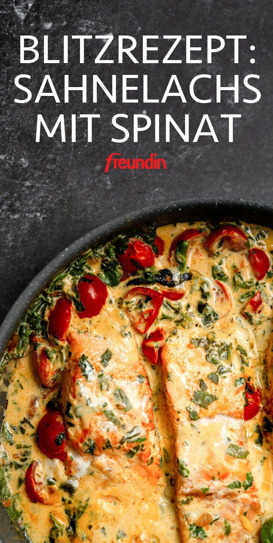 Blitzrezept aus der Pfanne: Sahnelachs mit Spinat
