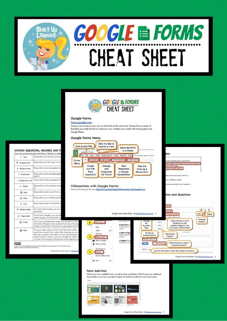 Google Forms Cheat Sheet For Teachers And Students Google Gafe