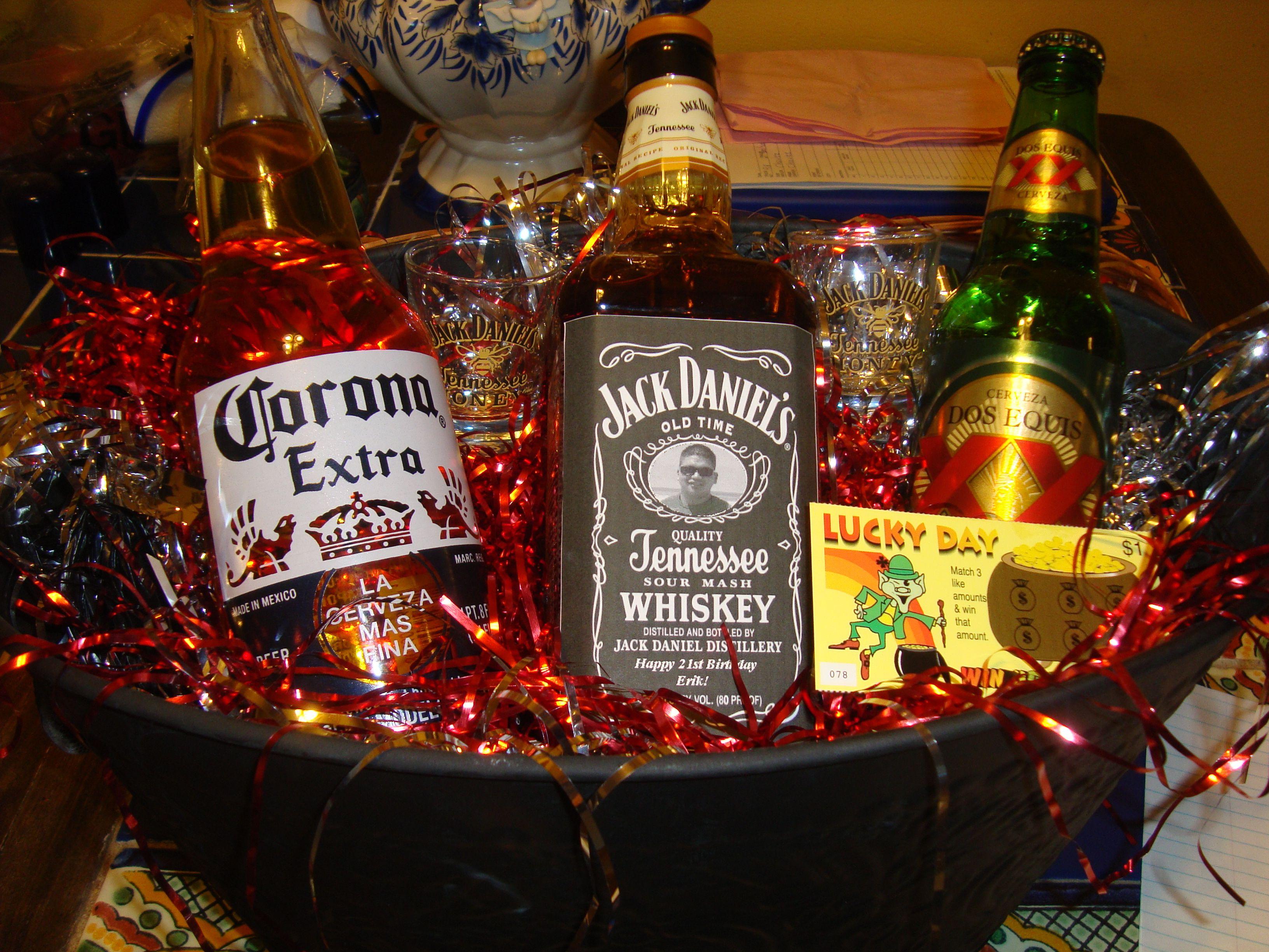 21st birthday gift idea jack daniels personalized