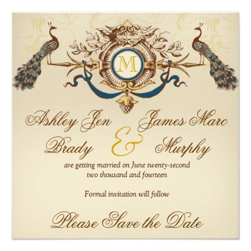 Elegant peacock save the date cards peacock feathers wedding elegant peacock save the date cards peacock feathers wedding invitations pinterest peacocks elegant and weddings stopboris Image collections