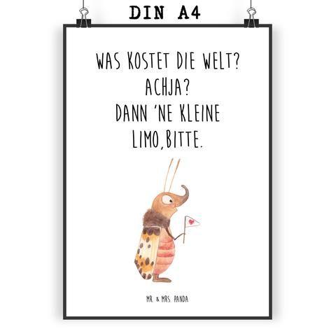 Poster DIN A4 Nachtfalter mit Fähnchen aus Papier 160 Gramm