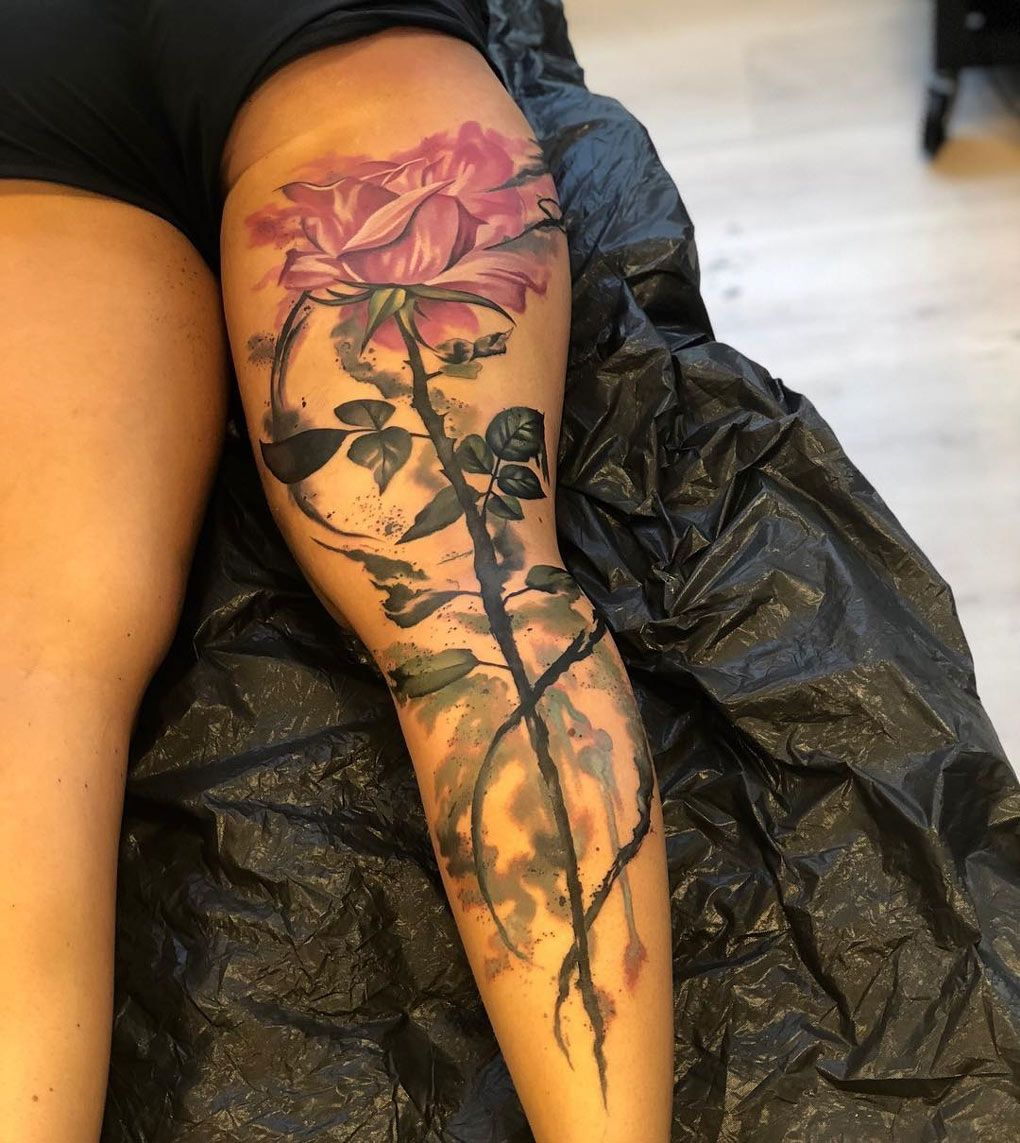 45++ Stunning Tattoos for women on leg image ideas