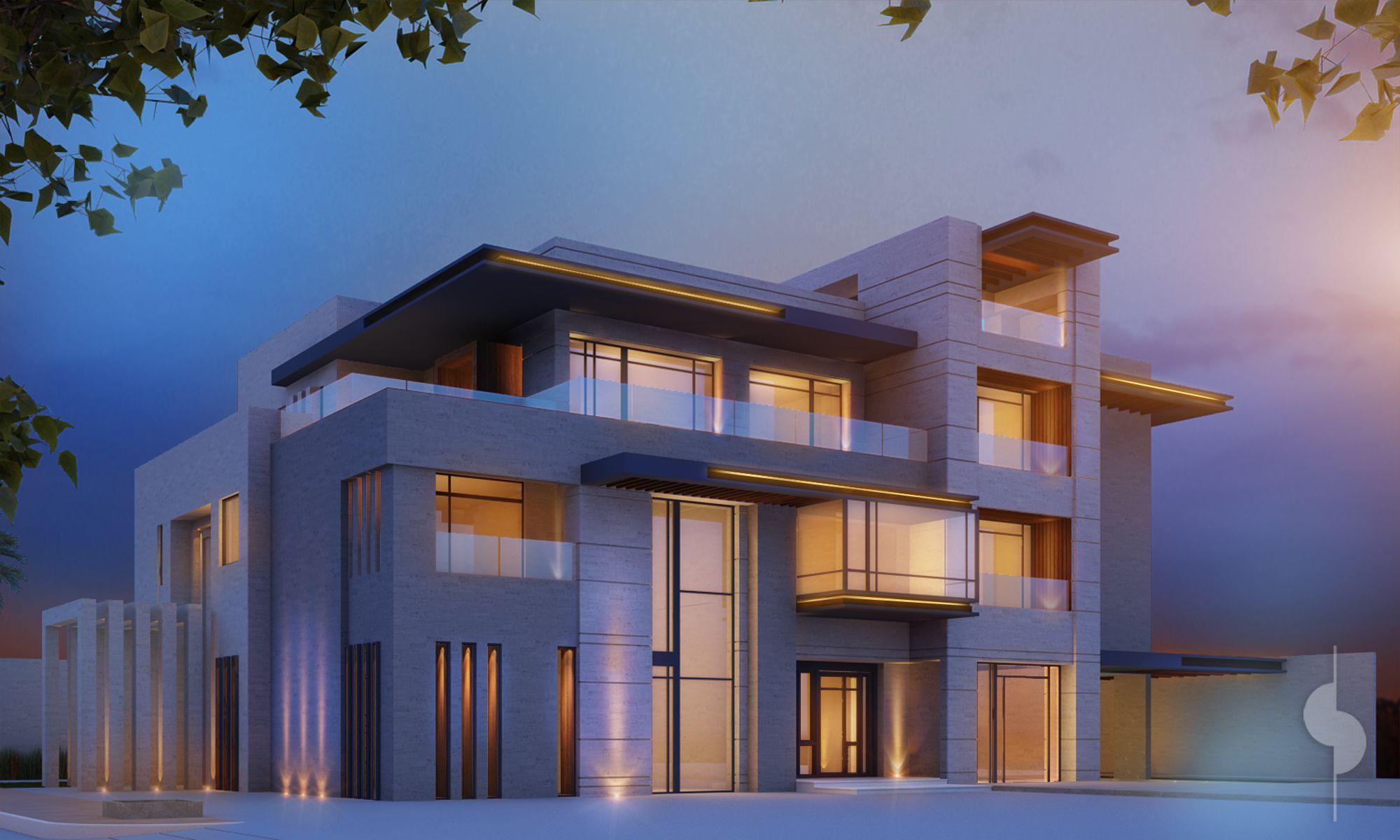 House Design 3800 m plot private