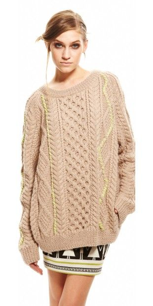 suno-knits-sweater-pullover-sand- | Lanita | Pinterest | Lana y Tejido