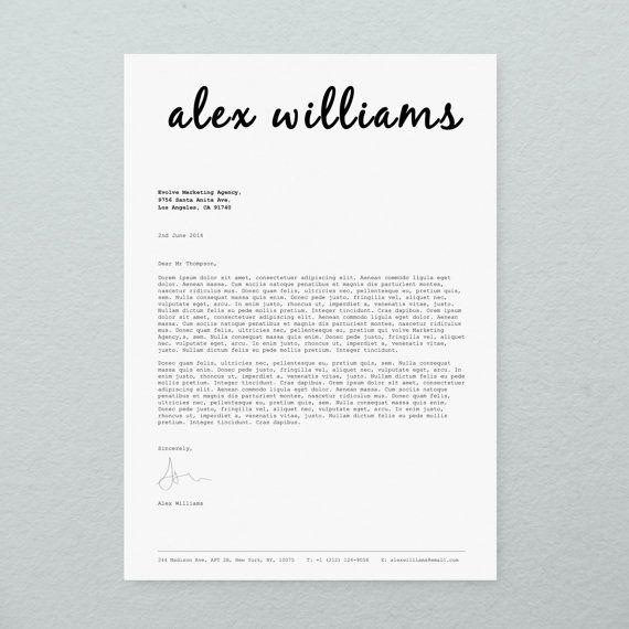 CV Design Cover Letter Printable Resume by BrandConceptCo on Etsy ...