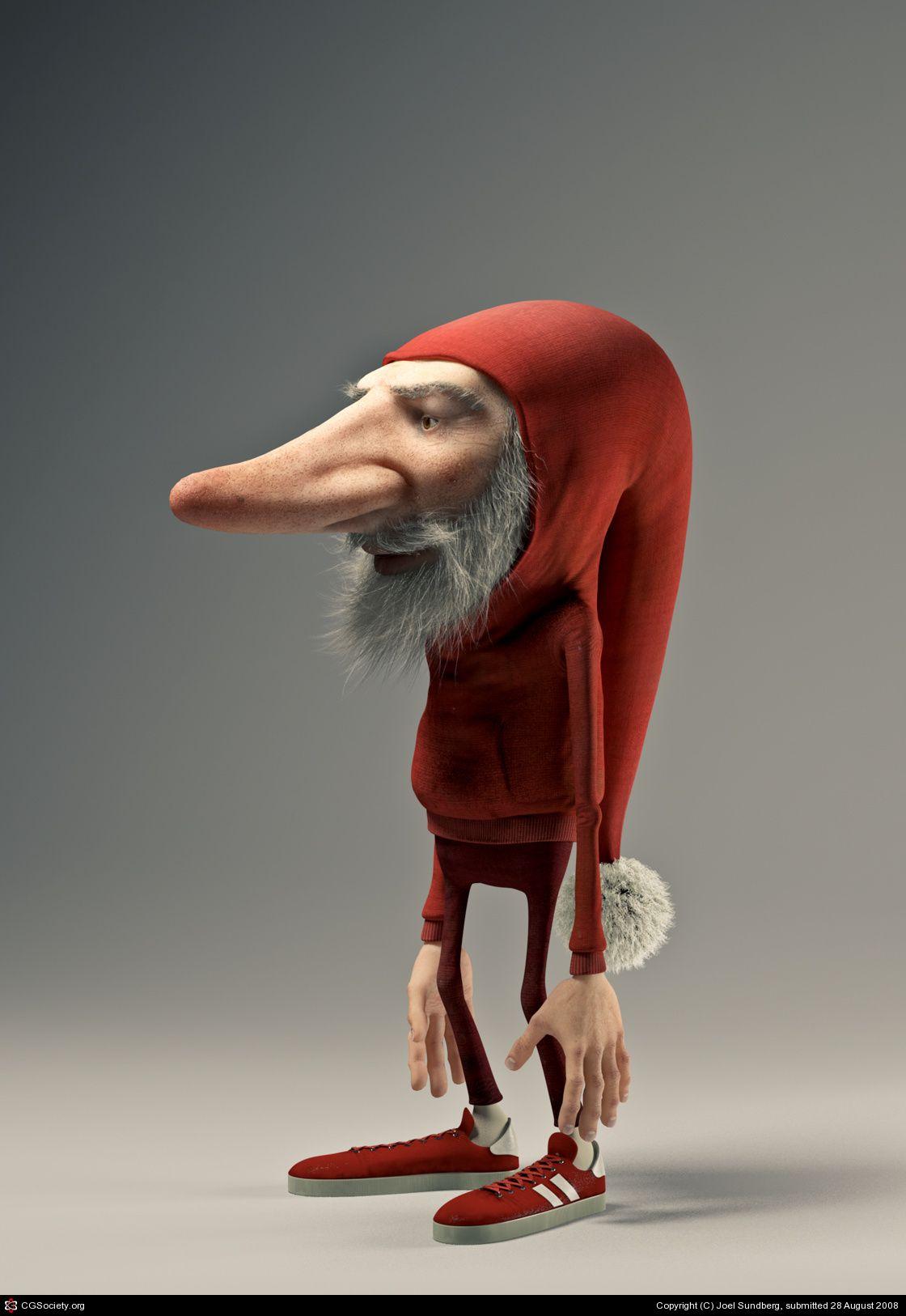 Tomte By Joel Sundberg 3d Cgsociety Cartoon Character Design Funny Character Funny Cartoon Characters