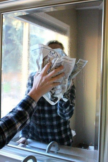 Can Newspaper Really Clean Glass How To Clean Mirrors Cleaning Glass Cleaning