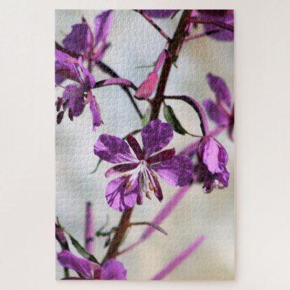 Pretty Purple Flower Puzzle