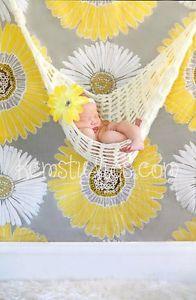 Newborn Baby Hammock Cocoon Photography Photo Prop Handmade 0 3 Months Cream   eBay