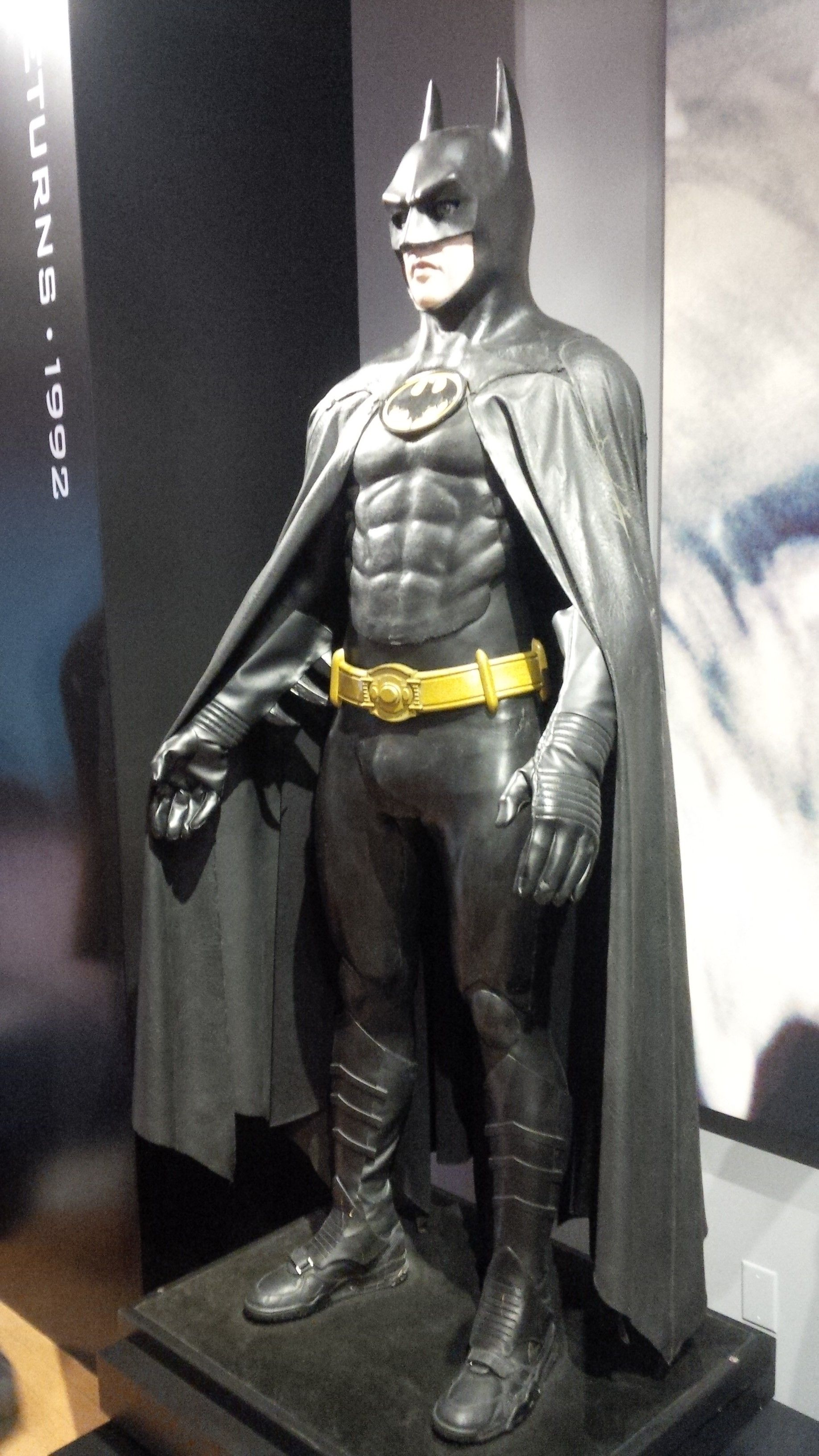 62b43a662e8 Batman Keaton Costume - Warner Bros. Studio Tour | The Dark Knight ...