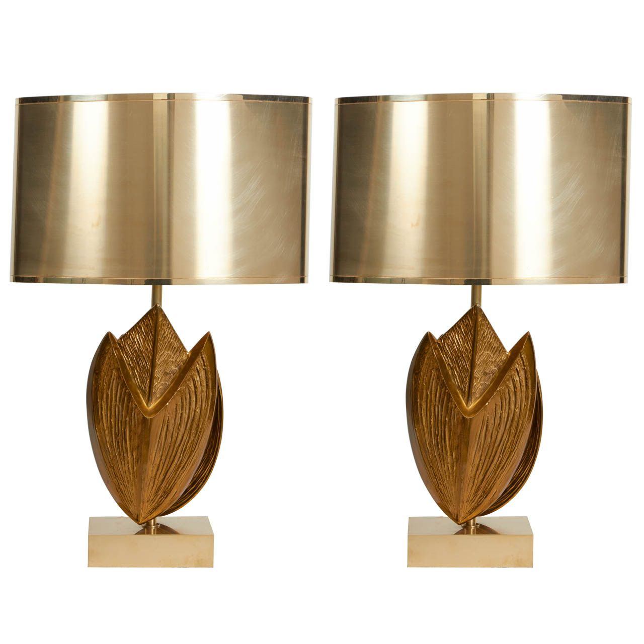 Exceptional Pair of Maison Charles Lamps | Pinterest | Living room ...